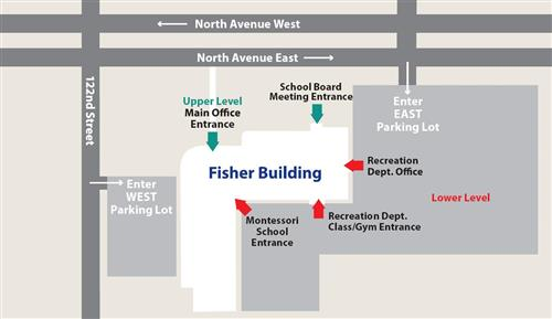 map of fisher building
