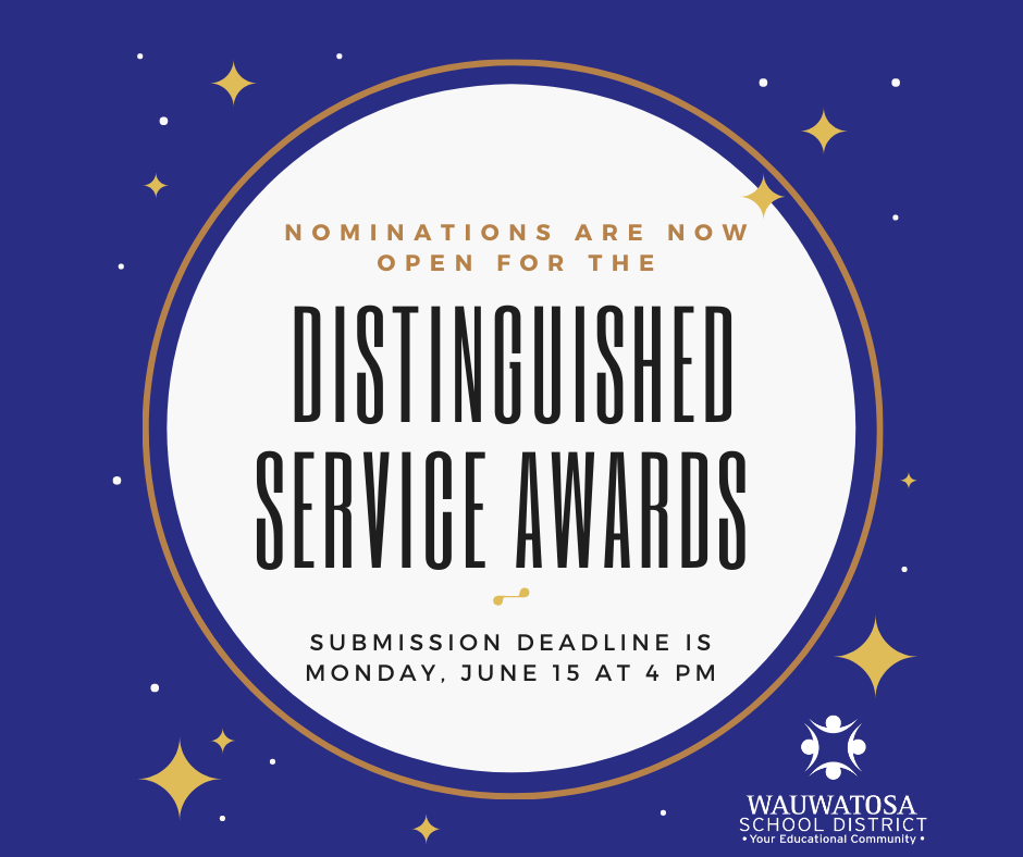 Nomination Deadline for Distinguished Service Awards is Friday, June 26