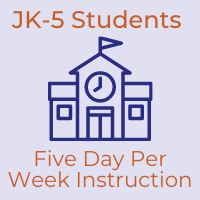 JK-5 Students to Begin Five Day Per Week Instruction on January 6, 2021