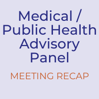 Medical/Public Health Advisory Panel Meeting Recap - Dec. 8, 2020